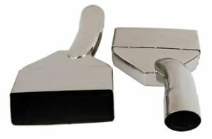 Exhaust Tip 2 25 In Inlet 6 88 X 2 00 Rectangle 10 50 In Long Slanted Stainles