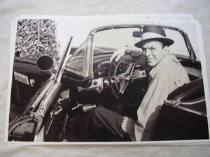 1955 Ford Thunderbird Frank Sinatra Sitting In New Car 11 X 17 Photo Picture