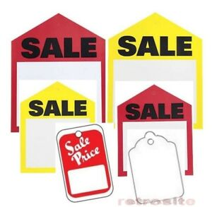 Sale Price Red Yellow Retail Unstrung Without Strings Coupon Merchandise Tags