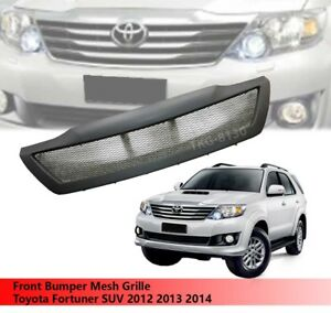 Front Bumper Mesh Grille Grill For Toyota Fortuner Suv 2012 2013 2014
