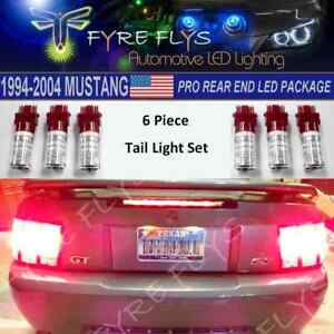 6 Pcs Super Bright Red Led Tail Light Conversion Package For 1994 2004 Mustang