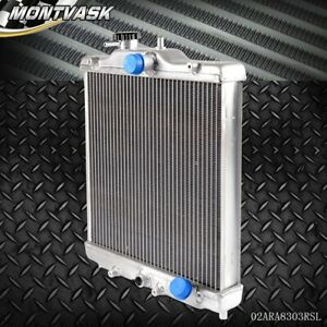 3 Row 52mm Aluminum Radiator For Honda Civic 92 00 Ek Eg D15 D16