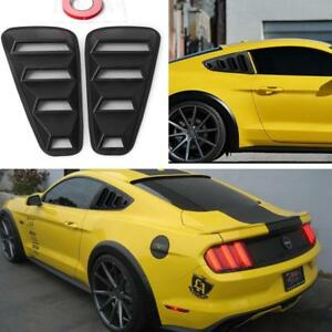 For Mustang 2005 2014 Matte Black Quarter Side Window Louvers Scoop Cover Vent
