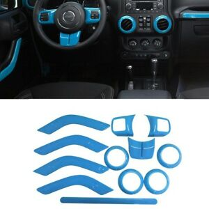 For Jeep Wrangler Jk Jku 11 17 Light Blue 1 Set Interior Decoration Cover Trim