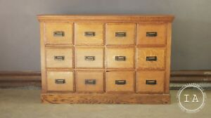 Vintage 12 Drawer Apothecary Cabinet