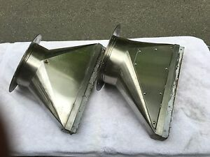 8 dia Stainless Steel Transition increase Exhaust Vents 12 Flange exc Used