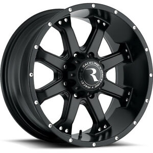 17x9 Black Raceline Assault 991b Wheels 8x6 5 12 Lifted Chevrolet C 3500
