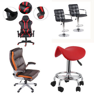 360 Swivel Pu Leather Executive Ergonomic Computer Desk Chair Home Office Fg