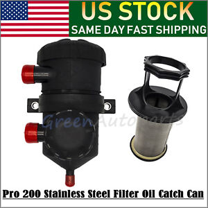 Pro 200 Vent Oil Separator Catch Can Filter For Hilux Turbo 4wds 39310705