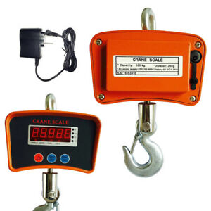 1100lbs 500kg Digital Crane Hanging Scale Heavy Duty Industrial W led Display