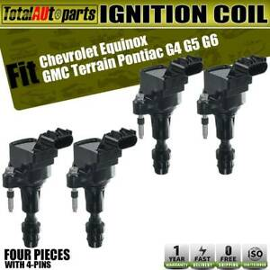 4x Ignition Coil For Buick Lacrosse Regal Chevy Impala Malibu L4 2 0l 2 2l 2 4l