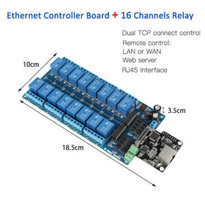 Ethernet Control Module Lan Wan Network Web Server Rj45 Port 16 Channel Relay Bs