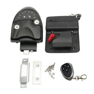 Magideal Car Rv Camper Trailer Remote Keyless Entry Door Lock Latch Kit
