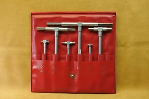 Mitutoyo 6 Piece 5 16 To 6 Inch Satin Chrome Finish Telescoping Gage Set
