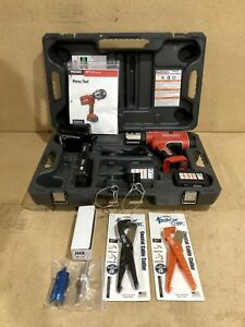 Ridgid Propress Rp 210 W charger 1x Press Frames 2x Batteries And Case