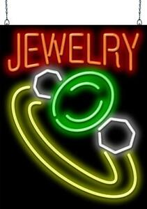Jewelry With Graphic Neon Sign Jantec 2 Sizes Pawn Buy Real Neon Art