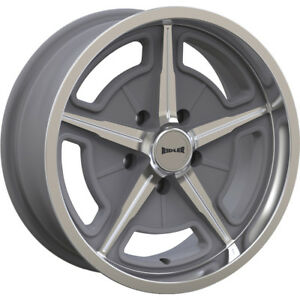 17x8 Gray Ridler Style 605 605 Wheels 5x4 75 0 Fits Buick Special