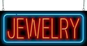 Jewelry Neon Sign Jantec 2 Sizes Pawn Loans Diamonds Gold Silver