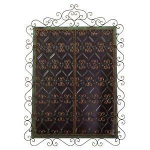 French Wrought Iron Scroll Mirror