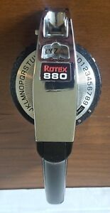 Rotex 880 Vintage Black And Chrome Heavy Duty Label Maker 1 2 Or 3 8