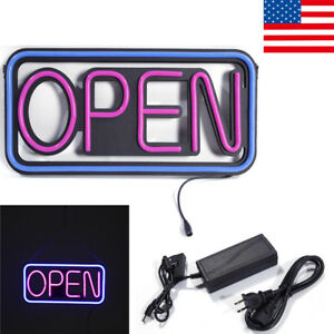 Led Open Sign Rectangular Hang Waterproof Neon Light Outdoor Business Sign Pvc