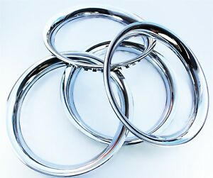 Chrome Wheel Trim Rings Band 16 Set 4 Steel With Chrome Finish Band Ring