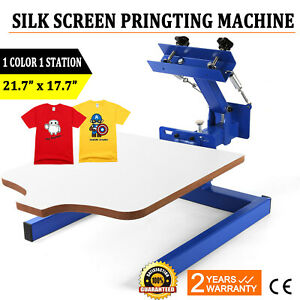 New 1 Color 1 Station Silk Screen Printing Machine Press Equipment T shirt Diy