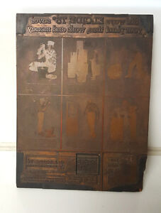 Vintage Letterpress Print Block Wood Advertisement Newspaper Excide 75 Oil Large
