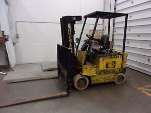 Hyster E60xl 33 6000lb Cap Electric Forklift W 36v Charger 68 Forks for2075