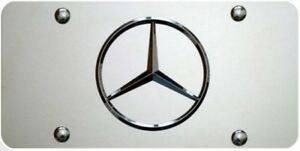 Mercedes Benz 3d License Plate Stainless Steel