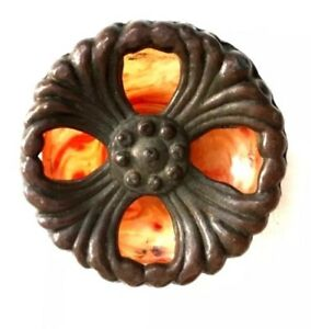 Brass Bakelite Antique Hardware Art Deco Drawer Pull Cabinet Knob Handle