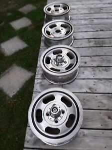Vintage Original 4lug Ford 5 Alluminum Wheels 3255845 A3
