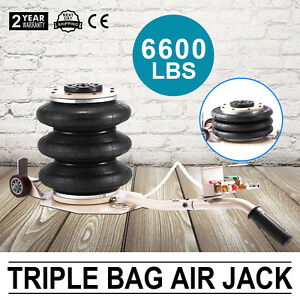 3 Ton Triple Bag Air Jack Pneumatic Jack Lifting Adjustable Lift Jack 6600lbs