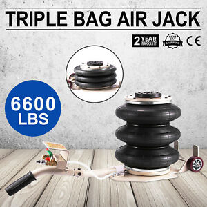 3 Ton Triple Bag Air Jack Pneumatic Jack Lifting Heavy Duty Lift Jack 6600lbs