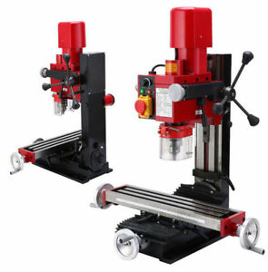 New 220v 700w Bench Drill Milling Metal Wood Drilling Mill Machine Multifunction