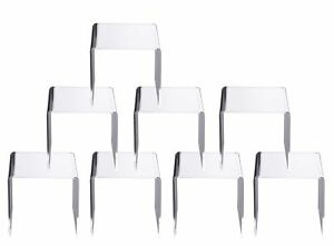 Jusalpha Clear Acrylic Riser Stand Lot Of 8 5x5x5 Inches