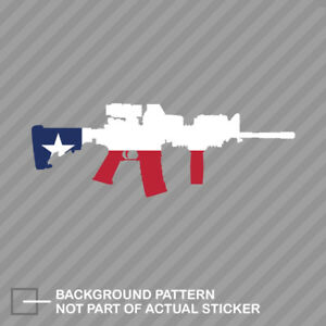 Texas State Shape Ar15 Sticker Decal Vinyl Ar 15 M16 M 16 Tx
