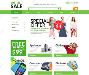 Create Online Wholesaling Shop Themes Build Electronic E commerce Websites