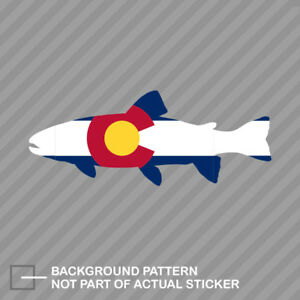 Colorado State Shaped Trout Sticker Decal Vinyl Co Fly Fishing Fish