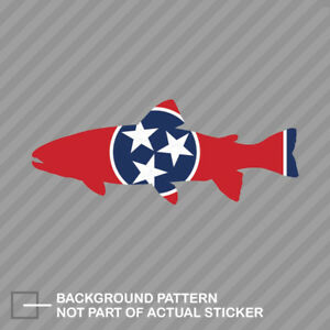 Tennessee State Shaped Trout Sticker Decal Vinyl Tn Fly Fishing Fish