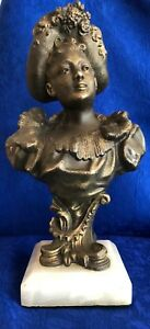 Victorian Lady Spelter Sculpture
