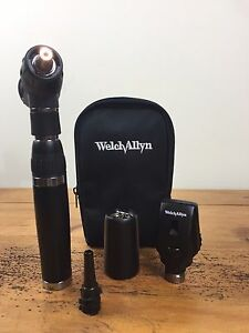 Welch Allyn Diagnostic Set Lithium Handle Macroview 23810 Ophthalmoscope 11710