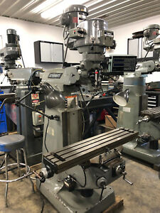 9 X 42 2hp Late Model Bridgeport Vertical Milling Machine With Acu rite Dro