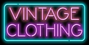 Vintage Clothing With Border Neon Sign Jantec 2 Sizes Free Shipping