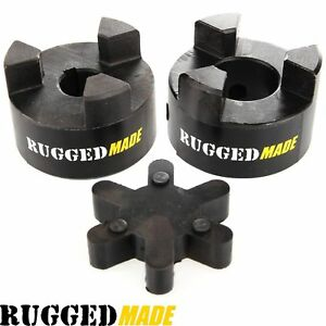 1 X 9 16 Shaft Flexible Jaw Coupler Rubber Spider L095 Lovejoy Coupling Set