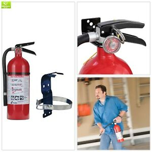 Kidde Pro 2a 10 b c Fire Extinguisher Bundle 5 Lb Mounting Bracket Dry Chemical