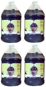 4 Ea Gold Medal 1224 Gallon Grape Flavor Sno cone Sno kone Syrup