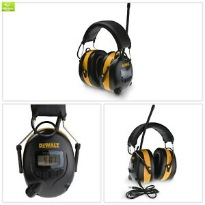 Radio Amfm Digital Tune Electronic Ear Muff Headset Hearing Work Protection Aux