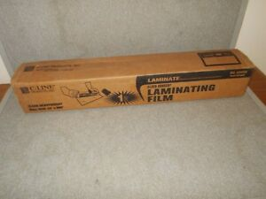 C line 65050 Heavyweight Clear Adheer Laminating Film 24 X 600 50