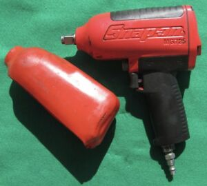 Snap on Tools Red 1 2 Drive Heavy Duty Air Impact Mg725 Free S